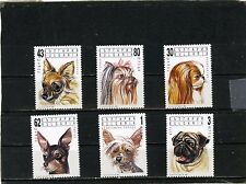 BULGARIA 1991 Sc#3635-3640 DOGS SET OF 6 STAMPS MNH