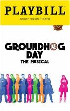 Groundhog Day Playbill Andy Karl Barrett Doss Opening Night Color Brand New 2017