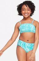 New Justice Sz 18 Swimsuit Bikini Blue Girls Swim Wear 2 Piece Bathing Suit NWT