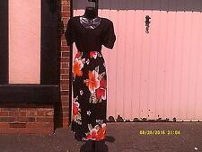 Vestido, Flor Nacional de Jamaica (hibiscus) Estampado Vestido.. un tamaño regular