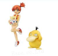 Pocket Monster Pokemon Togepi Misty Psyduck Set Of 3 Figure Statue New in Box