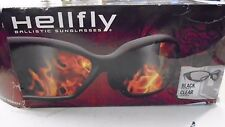 Hellfly Revision Military Ballistic Impact Resistance Black Frame Clear Lens New