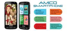 Brondi AMICO Smartphone 3G Android 5Mpx Whatsapp microSD Vivavoce SOS BK NUOVO