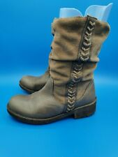 Coolway ladies western style boots brown suede and leather size 36/ 3