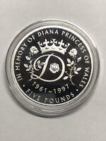 2017 Diana Princess of Wales Memorial Proof £5 Coin Tristan Da Cunha Five Pound