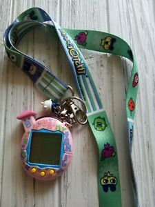 Tamagotchi Bandai Wiz 2004 Pink House Lanyard Charm Works digital pet handheld
