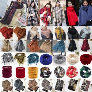 Womens Ladies Winter Warm Snood Neck Shawl Scarf Wrap Stole Pashmina Scarves Lot