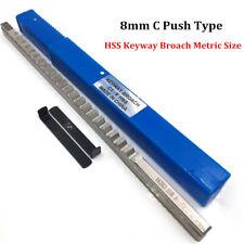Keyway Broach 8mm C Push Type Metric Size Broach High Speed Steel Cutting Tool