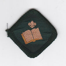 1980's BRITISH / UK SCOUTS - BOOK READER SCOUT PROFICIENCY BADGE