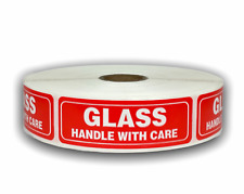 1000 Labels 1x3 Glass Handle With Care Special Handling Mailing Stickers