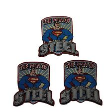 DC Comics Superman Series Man of Steel Embroidered Patch Set of 3