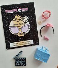 Monster High Muñecas Ropa miel pantano Frights Camera Action Accesorios Y Diario