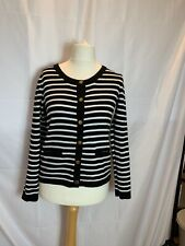 H&M Ladies/Women Black and White Jacket/Cardigan Size S Cotton Pockets Buttons