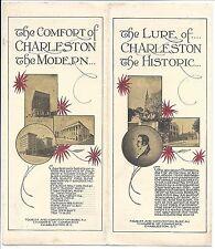 c1930s Illus Promotional Brochure with landmark Map, Charle 00004000 ston, S.C.
