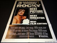 stallone ROCKY rare affiche cinema 1er sortie 1976 u.s