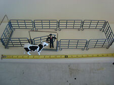 8 Sections & 2 Gates G-scale 1/32 Locking Metal Type Fence For Corral,Farm Scene
