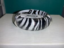 "🌸 Brighton Silver/ Black Crystal ""Trinity Zebra"" Bangle  Bracelet (B13) NWT🌸"