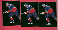 3 X 1995-96 PARKHURST INTER # 180 BLUES HAWECHUK  EMERALD ICE INSERT CARD