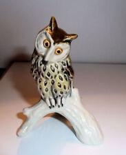 GOEBEL Ceramic Figurine SPOTTED OWL 1970s w. Label