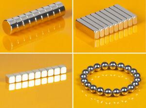 Extrem starke Neodym Magnete Scheiben Quader Würfel echte N45 N50 N52 Ausverkauf