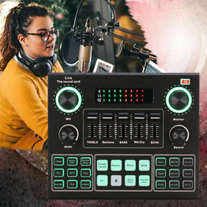 V9 Sound Mixer Board for Live-Streaming Voice Changer Soundkarte Audio Mixer