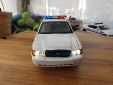 WEST WARWICK CROWN VIC POLICE INTERCEPTOR W/LIGHTS DIECAST1/18  CAR 9 VOLT LED