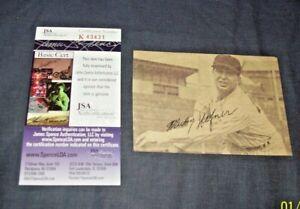 JSA Certified Mickey Haener Autographed  Newspaper Photo