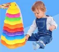 Kids Baby Toy Stacking Ring Tower Educational Toys Rainbow Stack Up Gift Xmas UK