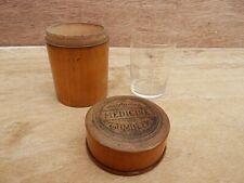 More details for antique apothecary measuring glass in treen case