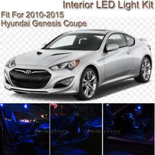 For Hyundai Genesis Coupe 10-15 Blue Interior LED Light Kit +White License Light