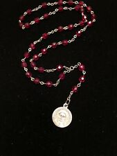 Chaplet of the Holy Face of Jesus - Handmade - 6mm Red Faceted Glass Beads