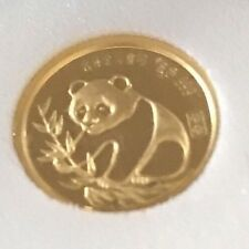 1987 24k Gold Panda Coin 1/20 Ounces New In Box & Authenticity Card