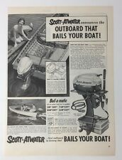 Original Print Ad SCOTT-ATWATER Bails Your Boat