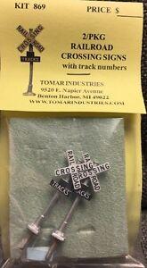 Tomar Industries H-869 HO Crossbucks - 2 Railroad Crossing Signs   modelrrsupply
