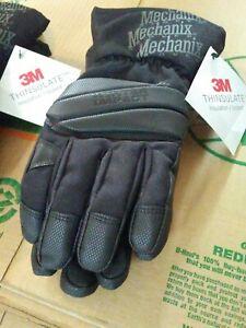 Mechanix Wear Mens Waterproof Winter Impact xl Gloves with 3M Thinsulate, Black