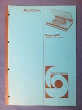 B & O BEOGRAM 6000 SERVICE MANUAL ORIGINAL FACTORY ISSUE GOOD CONDITION