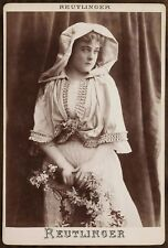 Sybil Sanderson, American operatic Soprano, Opéra, Photo Cabinet card Reutlinger