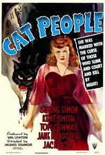 CAT PEOPLE Movie POSTER 27x40 Simone Simon Kent Smith Jane Randolph Jack Holt