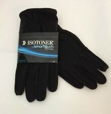 Oxford heather gloves L XL NEW ISOTONER mens A700S1BOH SmarTouch Black