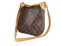 LOUIS VUITTON Odeon PM Monogram Canvas Leather Crossbody Shoulder Bag LS3885