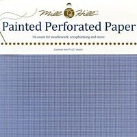 Sky Blue Painted Perforated Paper Mill Hill 14 Count 9x12 Inches