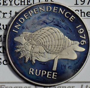 Seychelles 1976 Rupee mintage 8500 Triton Conch Shell S0176 combine