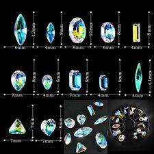 3D DIY Women's Nail Art Wheel AB Rhinestone Crystal Gems Glitter Tips Accessory