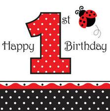 Creative Converting 660119 Ladybug Fancy Lunch Napkins 1st Birthday Case of 192