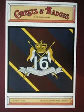 POSTCARD 44 16TH/5TH THE QUEEN'S ROYAL LANCERS CRESTS & BADGES OF THE ARMED FORC
