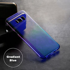 Ultra Thin Gradient Colorful Clear Case Soft Cover For Samsung Galaxy S8+S7 edge