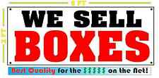 WE SELL BOXES Banner Sign for STORAGE Mail Post Computer SHOP convience store