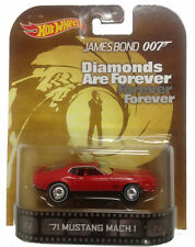 1/64 Hot Wheels Retro James Bond 007 Diamonds Are Forever 71 Mustang Mach 1
