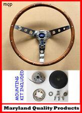 "1949-56 Ford Ranch Wagon Skyliner Grant Wood Steering Wheel Walnut 13 1/2"""
