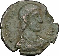 Julian II as Caesar with globe & spear 355AD Ancient Roman Coin i39072